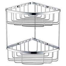 Двухслойная сетчатая корзина для ванной и кухни