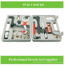 Vente en gros Bicyclette à vélo Ensemble d'outils de réparation de vélos Boîte à outils Boîte à outils
