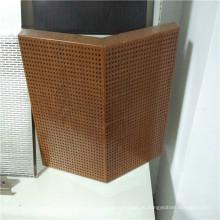 Perforierte Holzfarben Aluminium Akustik Wabenplatten