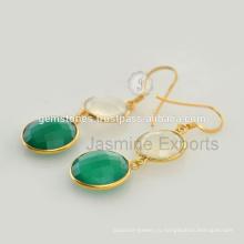 Оникс Драгоценных Камней Позолоченные Стерлингового Серебра Ювелирные Изделия Оптом