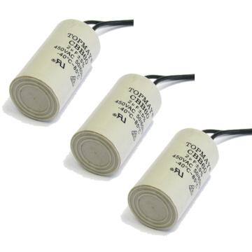 Condensador electrolítico Cbb60 del funcionamiento del motor de Topmay AC 250V para el dispositivo