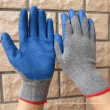 Gants de latex à revêtement bleu à gants de sécurité