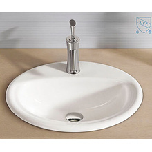 Bathroom Oval Round Shape Art Ceramic Porcelain Hand Wash Sink Basin