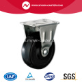 1 '' Black Rubber Light Duty Industrial Caster