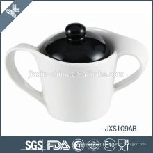 Wholesle china marca barato luxo mix cor de cerâmica pote de açúcar