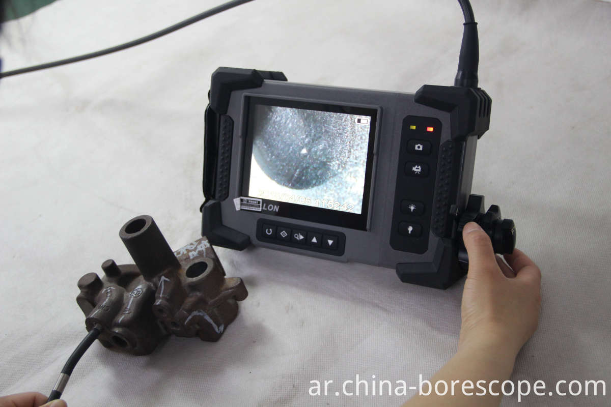 Industrial pipe inspection videoscope