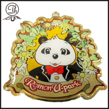 Epoxy gold Bear charm keyring for men
