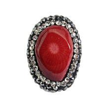 Ova Red Nutural Collar de perlas de coral joyas pulsera Bancle DIY