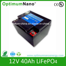 Lithium Battery Type 12volt 40 Ah LiFePO4 Battery for UPS and Solar System