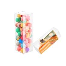 Plastique transparent de boîte transparente de bonbons d'Halloween d'acétate clair fait sur commande