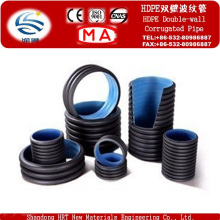 HDPE High Density Polyethylene HDPE Double Wall Corrugated Pipe