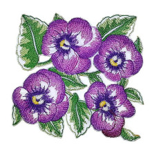 Unique Garden's Best Delight Pansy Embroidered Patch