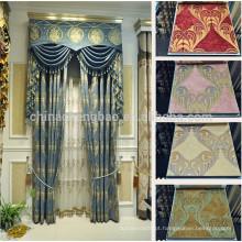 Últimos desenhos de cortinas de janela estilo chinês em luxo