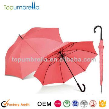 """Parapluie de bâton solide de parapluie de couleur de 23 """"8rib"""