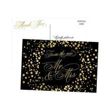 Kühle Hochzeit des Schwarzweiss danken Ihnen Karten-Hochzeits-Karten-Luxushochzeits-Einladung