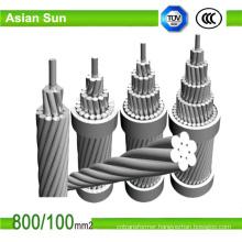 Overhead Bare Conductor Mcm Aluminum Conductor Steel Reinforced ACSR