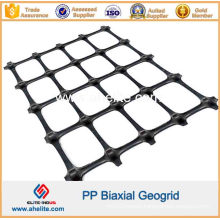 Plastic Polypropylene PP Uniaxial Biaxial Triaxial Geogrids Bx1100 Bx1200