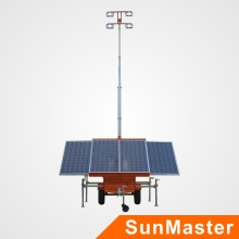 Torre de luz LED móvil de energía solar
