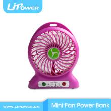 2015 Специальный рождественский подарок USB Mini Fan power bank для мобильного телефона
