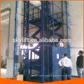 Vertical guide rail cargo elevator lift