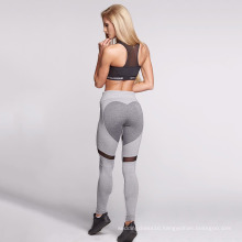 Gray Sweetheart Sport Fitness Yoga Pants Leggings (3054)