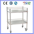 Hospital Stainless Steel Treatment Trolley (THR-MT240)
