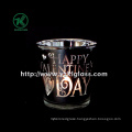 Color Double Wall Glass Candle Cup by BV (5.7*7.5*7.5)