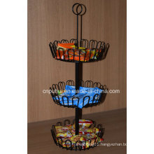 3 Layer Wire Counter Cookies Display Rack (PHY1061F)