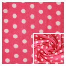 Spot Printing Anti-Pilling Polar Fleece Printed Knitting Fleece for Home Textile, Garment.