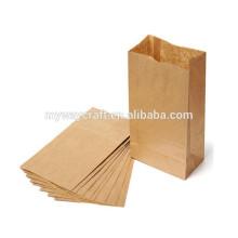 Petit sac en papier kraft sac à papier imperméable à la graisse pour la nourriture