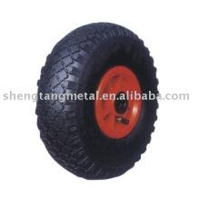 rueda de goma neumática PR1008 para carro de mano