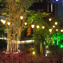 Lumière de fibre optique de décoration de jardin de fleurs de haute qualité