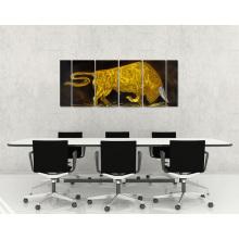 Бой быков Отличный металл Алюминиевые стены Искусство ручной работы Современная живопись