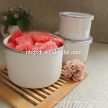 Чистый цвет эмали высокой ледяной чаши металл эмаль чаша белый металлические миски