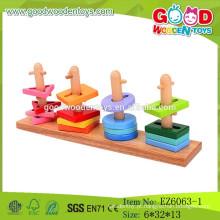2015 Novos Puzzle de Peg de madeira, brinquedos de Pilha de Imprensa, Brinquedos Educativos Clássicos