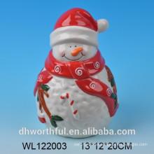 Tarro hermético de Navidad de cerámica