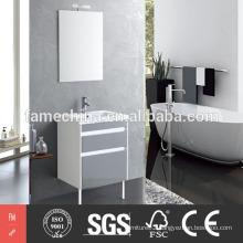 2015 New fashional design glossy bathroom vanity with sink