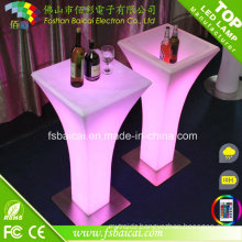 Portable LED Lighting Furniture LED Coffee High Table