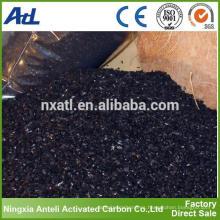 Carbón activado con cáscara de coco para la descontaminación del agua de proceso