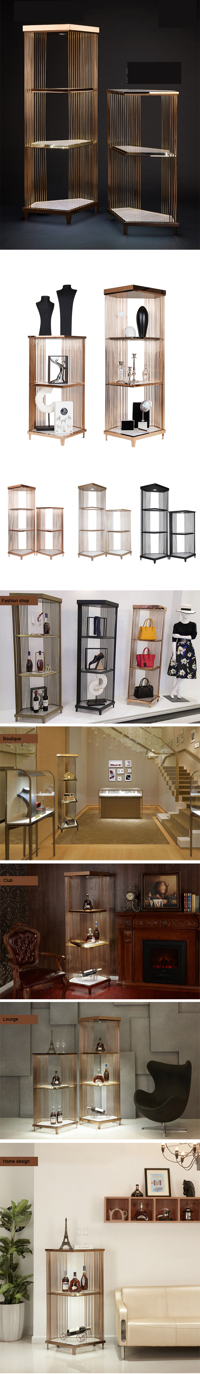 LED Metal Display Rack For Boutique