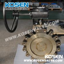 Бронзовый металлоуплотненный клапан-бабочка (типа Lug)