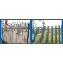 Cerca de paliçada de aço galvanizado e PVC revestido, Palisade, Euro cerca