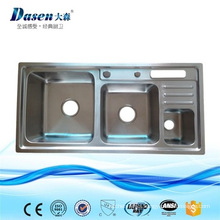 popular style triple bowl kitchen sink made of AISI 304 stainless steel