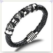 Joyería de cuero joyas de moda pulsera de cuero (lb421)