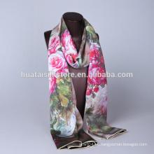 Orient diseño 100% seda bufanda en impresión digital