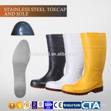 CE aço Toecap e Sole PVC homens botas de chuva & TPR injeção botas de segurança