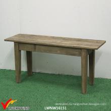 Деревенская деревянная скамья