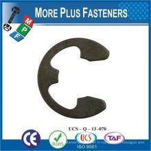 Fabriqué à Taiwan Black phosphate 15mm en acier inoxydable à ressort en acier métrique E Clip