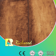 Plancher stratifié imperméable de stratifié de texture du grain du bois 12.3mm E1 AC4