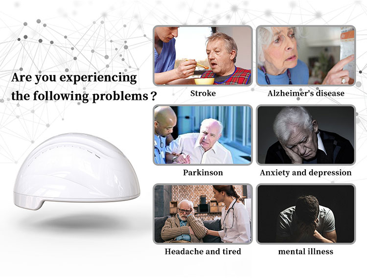 Near infrared PBM brain treatment helmet